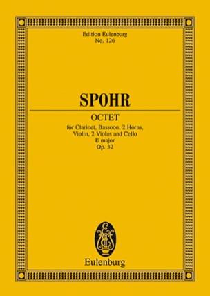 Oktett E-Dur, op. 32 E-Dur Louis Spohr Partition laflutedepan