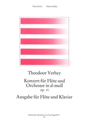 Konzert in d-moll op. 43 Theodoor Verhey Partition laflutedepan