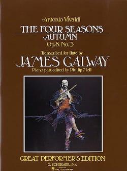 VIVALDI - Autumn Four seasons) op. 8 n° 3 - Flute piano - Partition - di-arezzo.fr