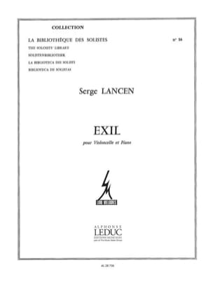 Serge Lancen - Exil - Partition - di-arezzo.ch