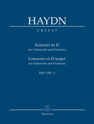 HAYDN - Konzert for Violoncello in D-Dur. Urtext der Haydn-Gesamtausgabe - Sheet Music - di-arezzo.co.uk