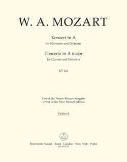 MOZART - Klarinettenkonzert A-Hard KV 622 - Full material - Sheet Music - di-arezzo.co.uk