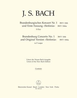BACH - Brandenburgisches Konzert Nr. 1 F-dur, BWV 1046 - Matériel complet - Partition - di-arezzo.fr