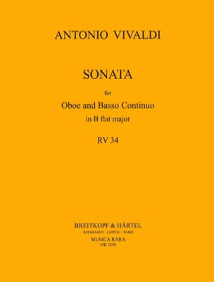 Sonate B flat major RV 34 - Oboe Bc VIVALDI Partition laflutedepan