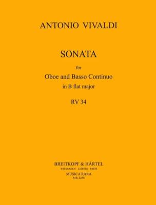 Antonio Vivaldi - Sonate B flat major RV 34 –Oboe Bc - Partition - di-arezzo.fr