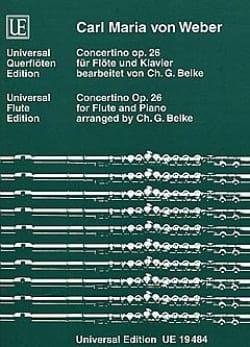 Carl Maria von Weber - Concertino op. 26 - Flöte Klavier - Partition - di-arezzo.fr
