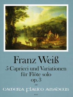 Franz Weiss - Capricci und Variationen op. 3 - Solo flute - Sheet Music - di-arezzo.co.uk