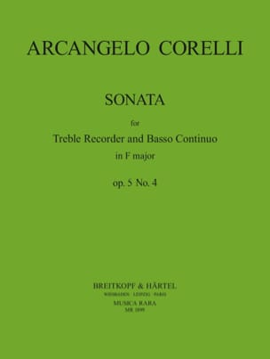 Arcangelo Corelli - Sonate En Fa Maj. op. 5 n° 4 - Partition - di-arezzo.fr