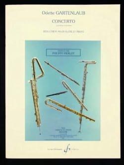 Concerto - Flûte et piano Odette Gartenlaub Partition laflutedepan