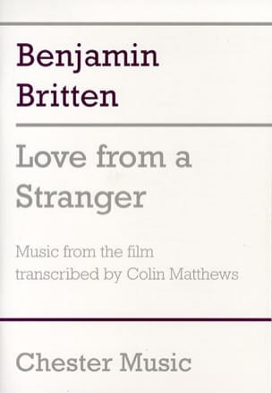 Love from a Stranger - Benjamin Britten - Partition - laflutedepan.com