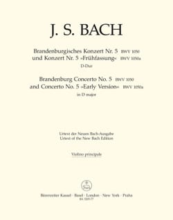 BACH - Brandenburg Concerto No. 5 und Konzert No. 5 Frühfassung - Sheet Music - di-arezzo.co.uk