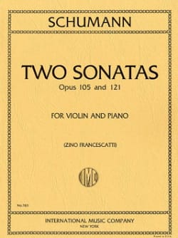 2 Sonatas op. 105 and op. 121 SCHUMANN Partition Violon - laflutedepan