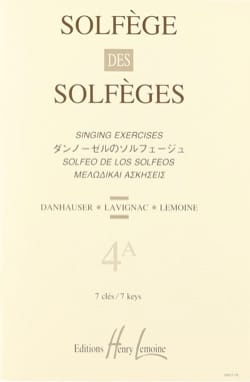 Lavignac - Volume 4a - S / A - Solfeggio of the Solfeggio - Sheet Music - di-arezzo.com