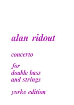 Concerto for double bass and strings - Alan Ridout - laflutedepan.com