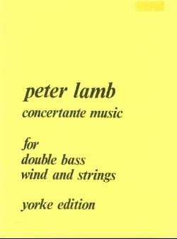 Concertante Music - Peter Lamb - Partition - laflutedepan.com