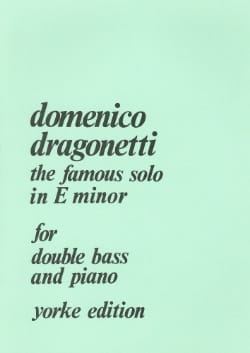 The famous Solo in E minor Domenico Dragonetti Partition laflutedepan