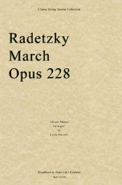 Radetzky March Johann (Fils) Strauss Partition Quatuors - laflutedepan
