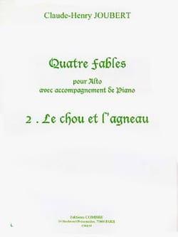 Le Chou et L'agneau Claude-Henry Joubert Partition Alto - laflutedepan