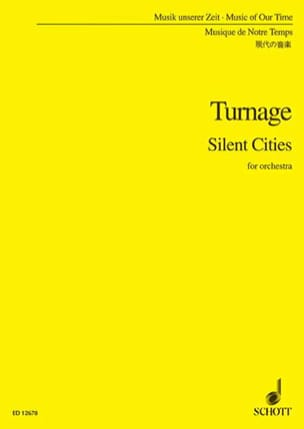 Silent cities – Score - Mark-Anthony Turnage - laflutedepan.com