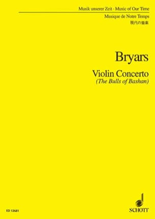 Gavin Bryars - Violin Concerto (The Bulls of Bashan) - Partition - di-arezzo.fr