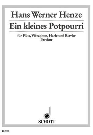 Hans Werner Henze - Ein kleines Potpourri - Flute Vibraphon Harfe Klavier - Partitur Stimmen - Sheet Music - di-arezzo.co.uk