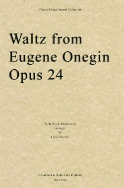 Waltz From Eugene Onegin Opus 24 TCHAIKOVSKY Partition laflutedepan