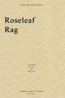 Roseleaf Rag – String quartet - Scott Joplin - laflutedepan.com