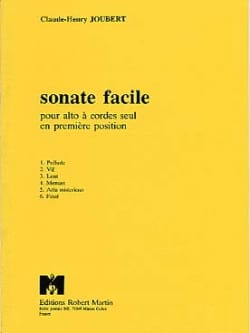 Claude-Henry Joubert - Sonate facile - Partition - di-arezzo.fr