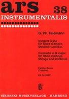 Konzert G-Dur für Oboe d'amore - Partitur - laflutedepan.com