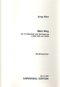 Arvo Pärt - Mein Weg - Partitur - Partition - di-arezzo.fr