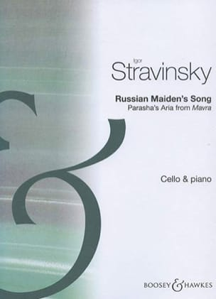 Igor Stravinsky - Russian Maiden's Song - Partition - di-arezzo.fr