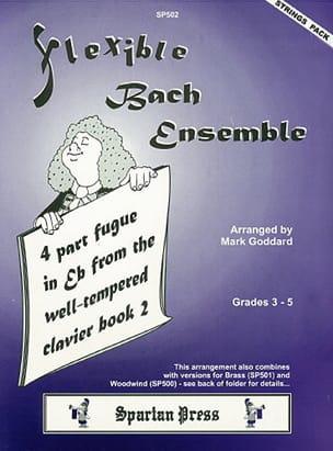 Bach Johann Sebastian / Goddard Mark - 4 Part fugue in Eb major – String ensemble - Partition - di-arezzo.fr