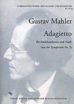 Gustav Mahler - Adagietto aus der Symphonie Nr. 5- Streichorchester u. Harfe - Partition - di-arezzo.fr