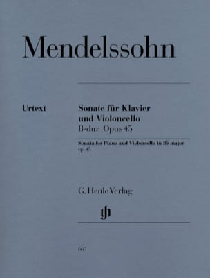 MENDELSSOHN - Sonata for cello in Bb Major op. 45 - Sheet Music - di-arezzo.co.uk