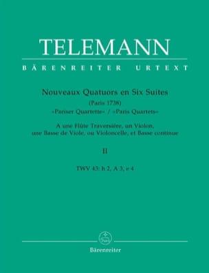 Nouveaux Quatuors en Six Suites - Bd. 2 - TELEMANN - laflutedepan.com