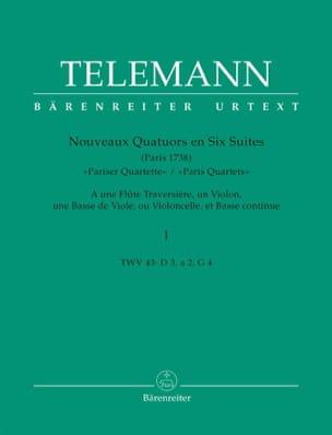 Nouveaux Quatuors en Six Suites - Bd. 1 TELEMANN laflutedepan