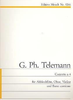 TELEMANN - Concerto 4 - Sheet Music - di-arezzo.co.uk