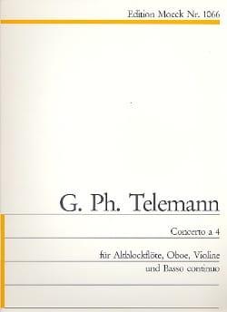 TELEMANN - Concerto à 4 - Partition - di-arezzo.fr