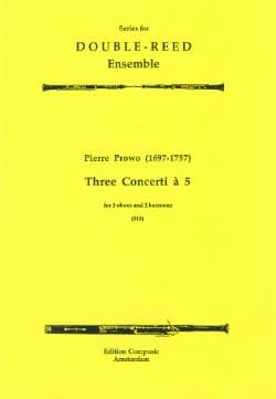 3 Concerti à 5 – 3 Oboes 2 bassoons - Score + parts - laflutedepan.com