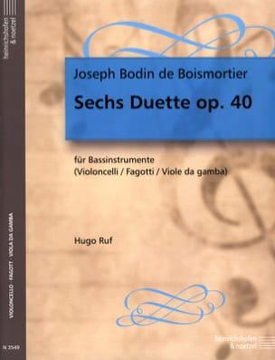 6 Duette, op. 40 BOISMORTIER Partition Violoncelle - laflutedepan