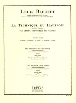 Louis Bleuzet - La Technique du Hautbois Volume 1 - Partition - di-arezzo.fr