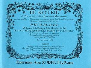 Michel Blavet - Recueil de Pièces Volume 3 - Partition - di-arezzo.fr