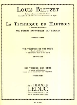 Louis Bleuzet - La technique du hautbois - Volume 2 - Partition - di-arezzo.fr