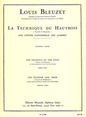 Louis Bleuzet - La technique du hautbois - Volume 3 - Partition - di-arezzo.fr