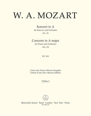 MOZART - Klavierkonzert Nr. 12 A-Dur KV 414 - Matériel Complet - Partition - di-arezzo.fr