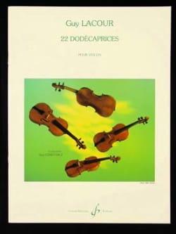 22 Dodécaprices - Violon - Guy Lacour - Partition - laflutedepan.com