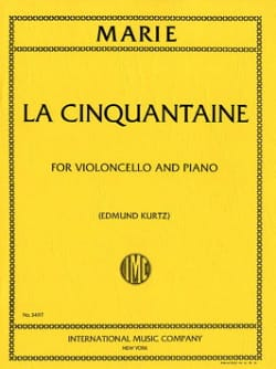 La cinquantaine - Cello Gabriel-Marie Partition laflutedepan