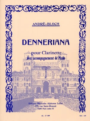 André-Bloch - Denneriana - Sheet Music - di-arezzo.co.uk