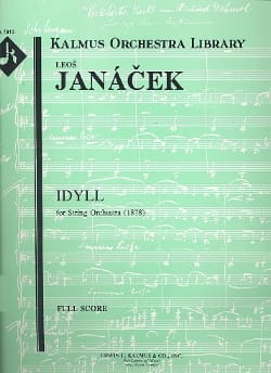 Idyll for string orchestra - Score JANACEK Partition laflutedepan