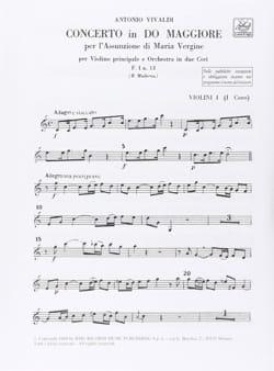 Concerto en Do Maj. - F. 1 N° 13 - Matériel VIVALDI laflutedepan